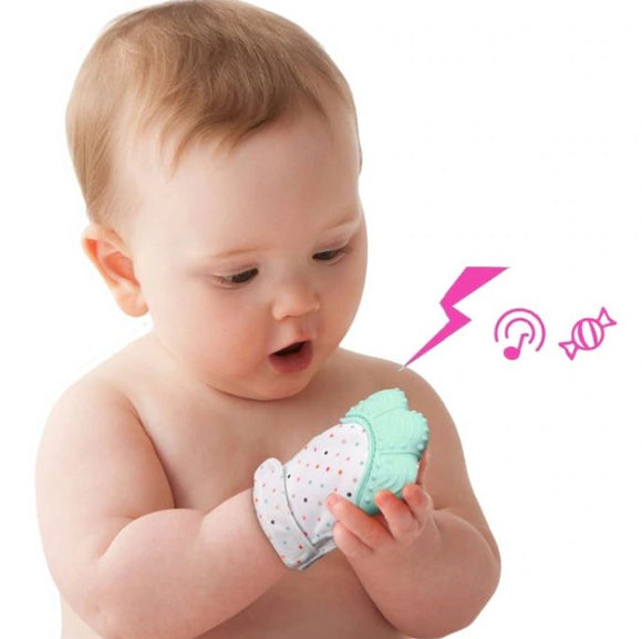 Happy Baby Teething Mitten for Teething Relief & Fingers Protection
