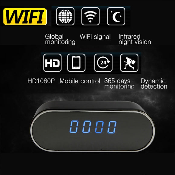 Table Clock with Built-in Mini-Camcorder/Camera Alarm (Wifi/Night Vision enabled electronics)