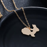 Cute Bunny Pendant Necklace (Jewelry)