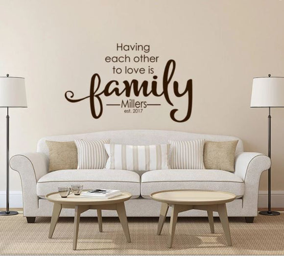 Family Monogram Decor (Wall Decal/Wall Art) -