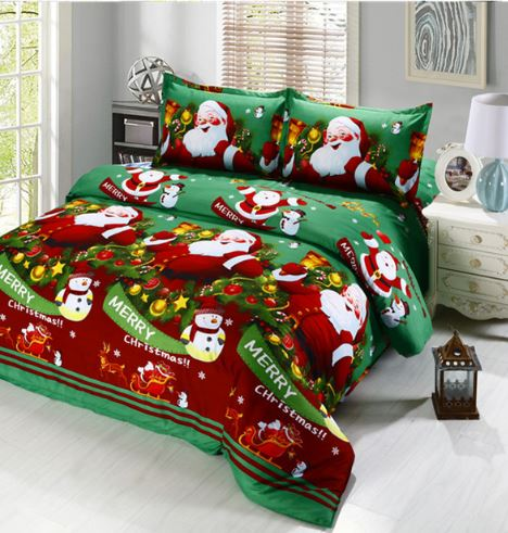 Santa Claus 3D Cartoon Christmas Bedding Set