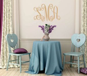 Family Initials Monogram Wall Decor (Wall Decal)