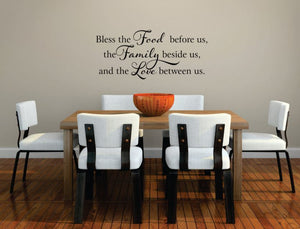 "Kitchen Decor (Wall Decal/Wall Art) - ""Bless the Food Before Us"""