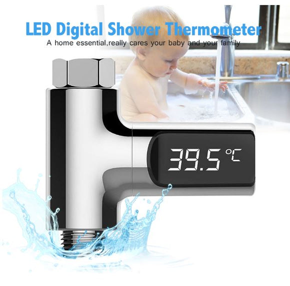 Water Shower LED Display Digital Thermometer