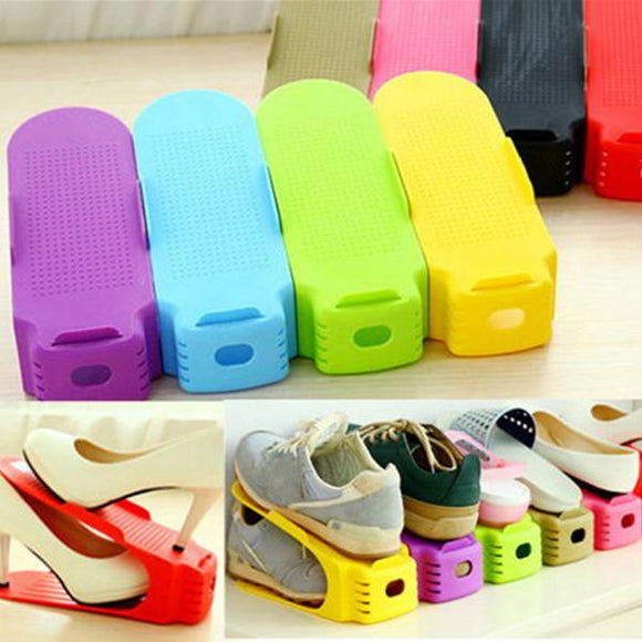 Super Smart Space-Saving Display Rack Shoes Organiser