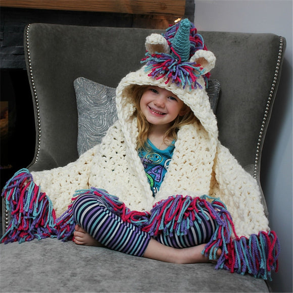 Unicorn Knitted Cloak/Blanket (Halloween, Christmas, etc.)