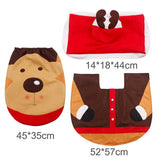 Santa Claus 3-in-1 Christmas Bathroom Decoration Set (Rug, Toilet Seat & Tank & Tissue Cover)