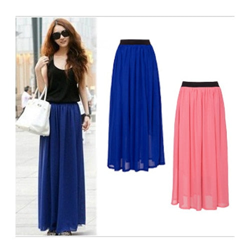 Fashionable Long Chiffon Maxi Skirt (Halloween)