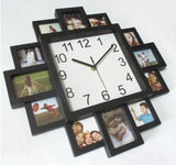 New Unique DIY Photo Frame Wall Clock Home Decoration