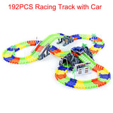 Cute Race Car on Colorful Flex Rail Track Set for Kids