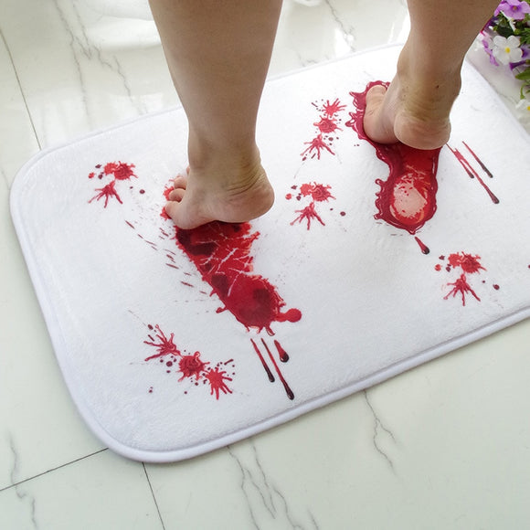 Anti-slip Bloody Footprints Bath Mat (Halloween Horror)
