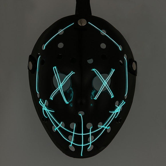 Cool Black LED Face Mask (Halloween)