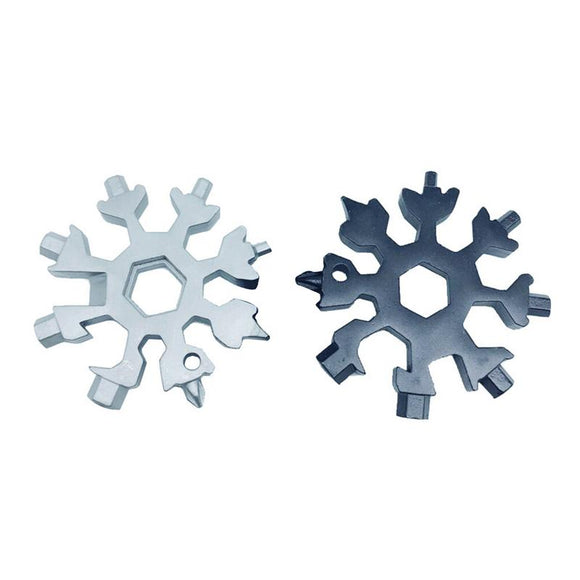 18-in-1 Stainless Steel Snowflakes Multi-tool Gadget