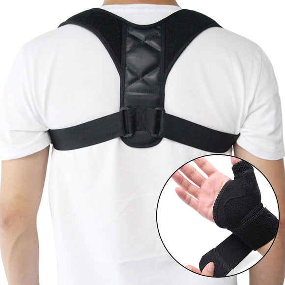 Simplified Back Posture Corrector & Palm Wrist Brace (Health Care)