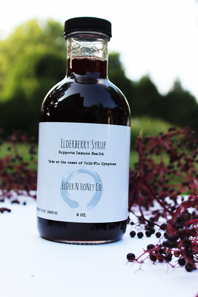 Elderberry Syrup | Organic Elderberry Syrup | Herbal Remedy to Support Immune System.