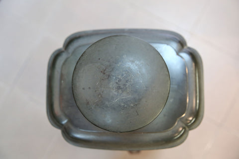 tea canister cap made by pewter