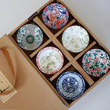 Hand-painted Chinese Style Pattern Tea Cup Tea | Set of 6 pieces