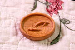 Carved Wood Dolphin Needle Magnet