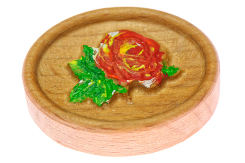 Rose Carved Magnetic Painted Needle Minder