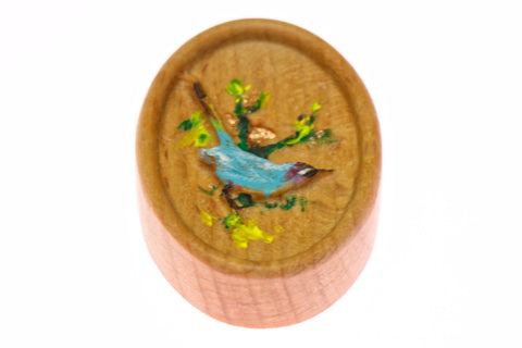 Painted Swallow Carved Bird Magnetic Needle Minder