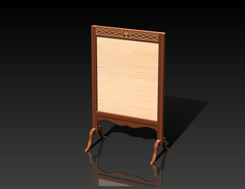 Solid Walnut Inlaid Fire Screen Pre-order DEPOSIT ONLY