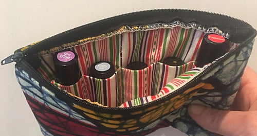 Karibu Batik Essential Oil bag (5 roller pockets)