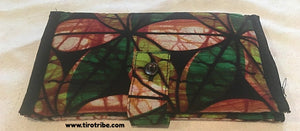 Green Batik Wallet Purse