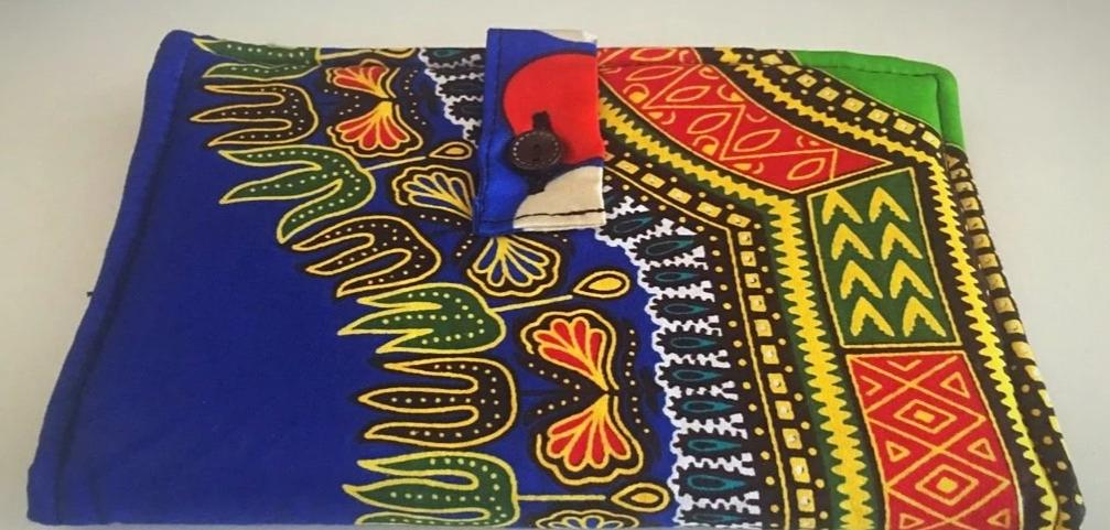 Blue dashiki kitenge wallet purse