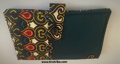 Forest green kitenge wallet purse