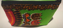 Light green kitenge essential oil purse (8 pockets)