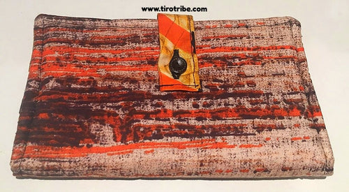 Orange & chocolate brown kenya wallet purse