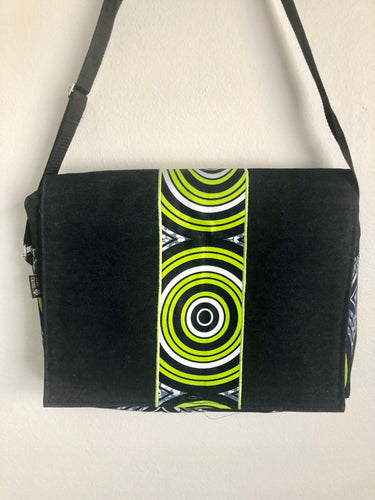 Laptop Lime Sun Denim Bag