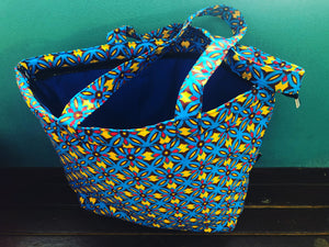 Sasa yellow blue tote bag