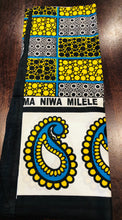 Milele - Double Black & Yellow Kanga