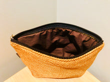 Golden large jute purse