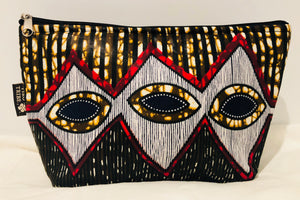 Large tribal eye essential oil travel bag (10 pockets)