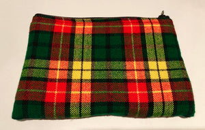 Red & green shuka blanket medium purse