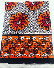 Molo - Orange Floral Single Kanga