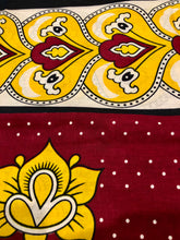 Wasini - Double Dark Red & Yellow Kanga
