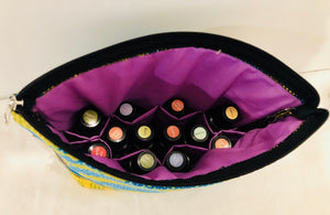 Large savannah essential oil travel bag (10 pockets)