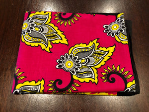Subira - Hot Pink & Yellow Single Kanga
