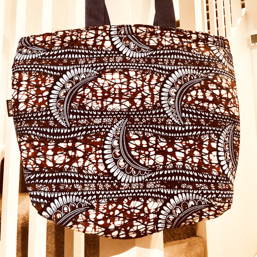 Dusky moon tote beach bag