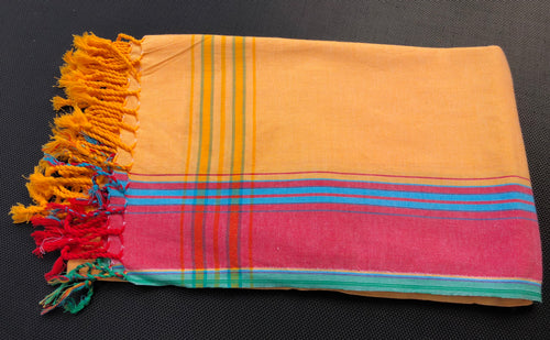 Kenyan Kikoi wrap 5 - Yellow and red