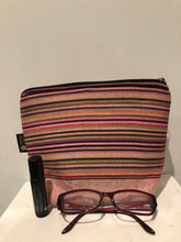Rosy stripes kikoi travel bag