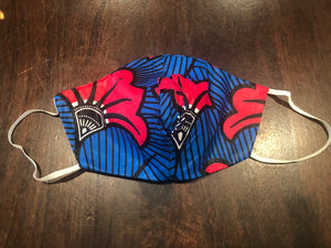 Hibiscus Fabric Mask