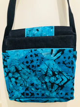 Ocean Blue Denim Cross Body Bag