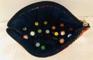 Large tribal eye essential oil travel bag (10 slots)