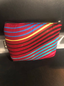 Red stripes travel bag