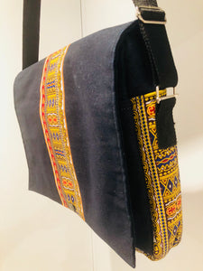 Laptop Ziggy Kitenge Denim Bag
