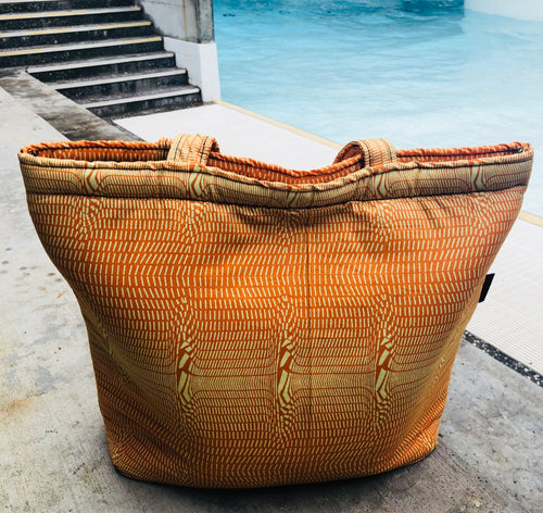 Honeycomb tote beach bag
